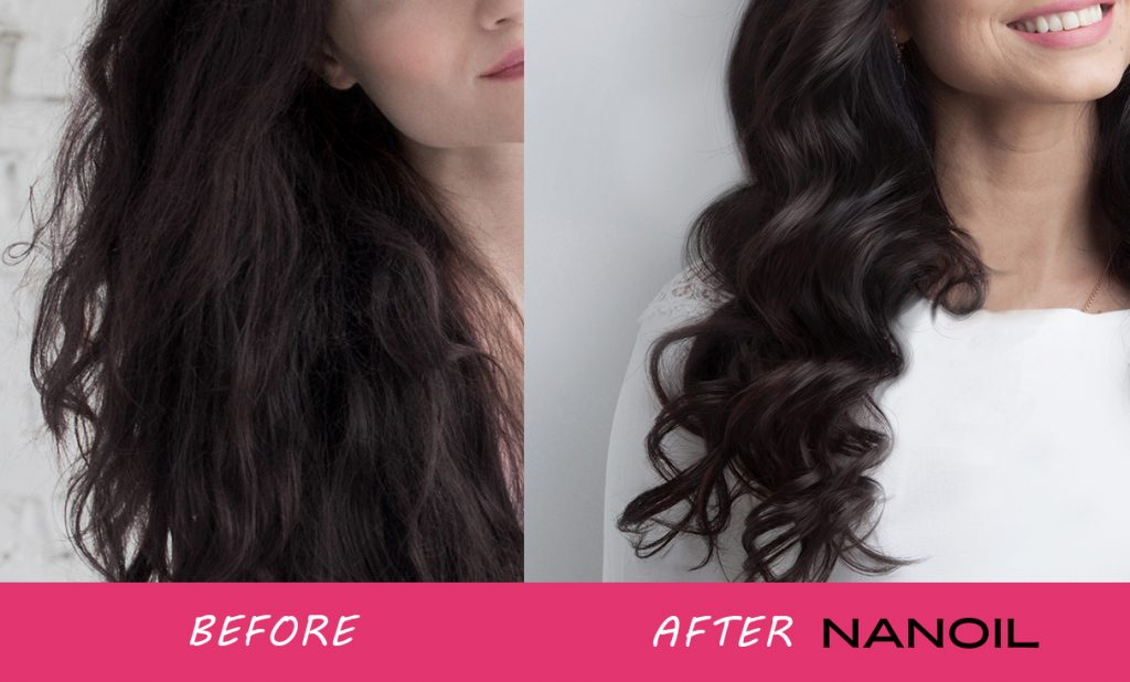 Hair Before and After Nanoil Treatment